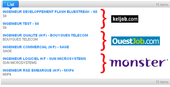 Job Info par Yahoo Pipe