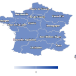 La carte des nouvelles régions de France sous Highcharts