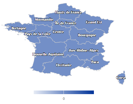 La Carte Des Nouvelles Regions De France Sous Highcharts Game And Me